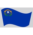 Flag of Nevada waving on gray background vector image