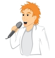 Man with mic vector image vector image