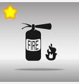 fire extinguisher black icon button logo symbol vector image