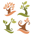 lovely trees vector image