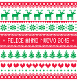 Felice Anno Nuovo 2015 - Italian happy New Year vector image