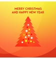 Christmas and new year tree on a red and yellow vector image