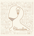 Flat linear Infographic Education Man Creative vector image vector image