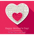 Red background with hearts for Mothers Day vector image