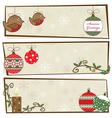 christmas snowflake banners vector image