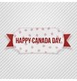 Happy Canada Day realistic Tag vector image