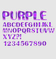 alphabet purple mosaic texture design uppercase vector image