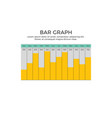 bar graph infographic element vector image