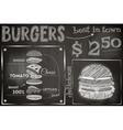 burger chalk vector image