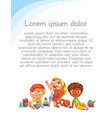 children look up with interest vector image