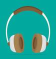flat brown headphones vector image