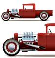 hot rod truck vector image