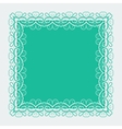 Ornamental lace square border vector image