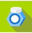 Packaging jar icon flat style vector image