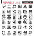 school education black mini concept icons and vector image