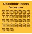 The calendar icon December symbol Flat vector image