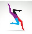 Women legs vector image