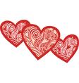 Hearts pattern vector image vector image