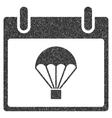 Parachute Calendar Day Grainy Texture Icon vector image