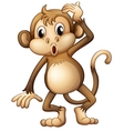 A tired monkey vector image vector image