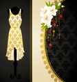 Fashionable dress with flowers vector image vector image