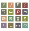 hotel room services icon set vector image