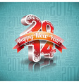 Happy New Year 2014 design with ribbon vector image vector image