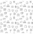 Social media icons seamless background internet vector image