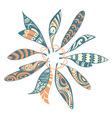Dream catcher leaf design vector image