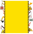 Construction Frame with Machinery vector image vector image