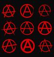 Anarchy symbol vector image vector image