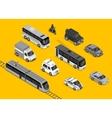 Isometric 3d Transport Set Flat Design vector image vector image