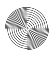 Spiral Abstract Background Vinyl Grooves vector image
