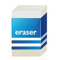 Eraser with blue label vector image