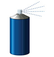 Spray bottle in blue color vector image
