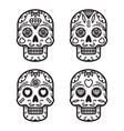 black and white mexican skulls vector image