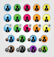 Business person icons vector image