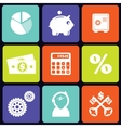 Finance icons square vector image