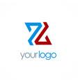 letter z color company logo vector image