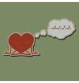 Meditate heart sticker vector image