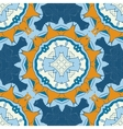 Set of blue and brown mandalas seamless vector image