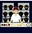 Seller in jewerly shop vector image