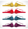 colored bras vector image