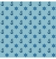 Seamless patterns anchors and steering wheel vector image vector image