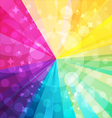 Rainbow bright background with rays5 vector image vector image