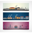 Industrial city banners set vector image
