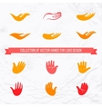 collection of open palms and hands vector image