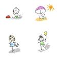 Children-boys girls toddlers vector image