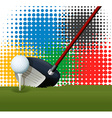 Golf club and golf ball vector image vector image