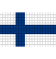 The mosaic flag of Finland vector image